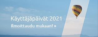 Ilmoittaudu Käyttäjäpäiville 2021